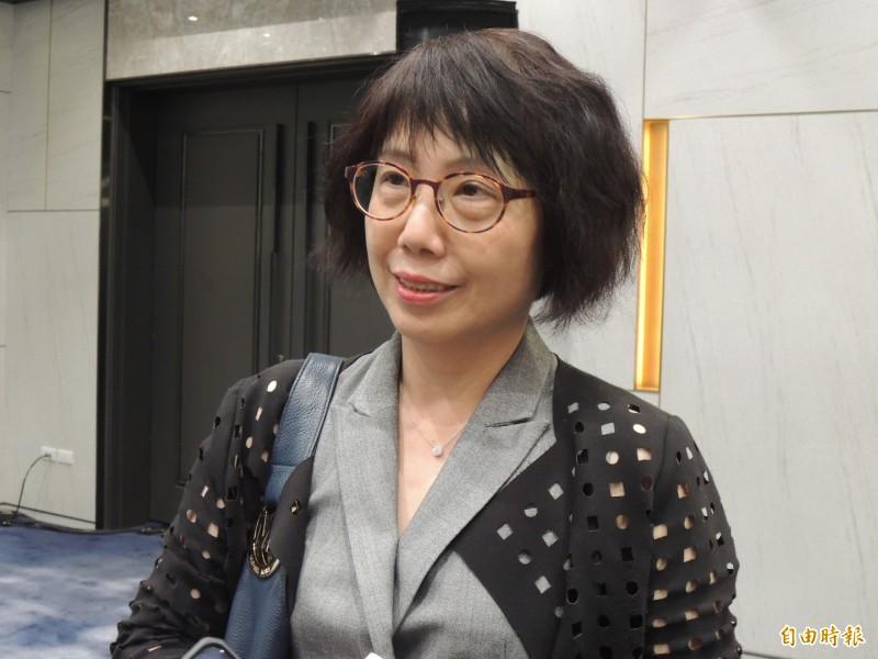 高美蘭辭職回溯到11月22日。(記者王榮祥攝)