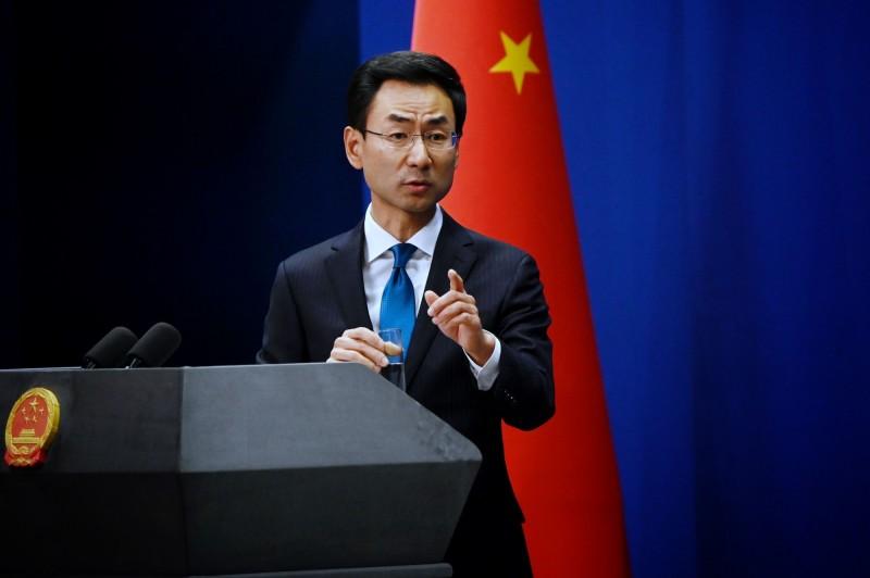 中國外交部發言人耿爽表示,中方有權禁止不受歡迎的人進入中國。(法新社)