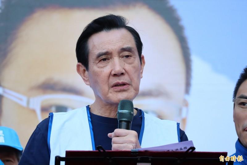 被問到韓國瑜砂石案,馬英九僅說自己不了解。(記者周湘芸攝)