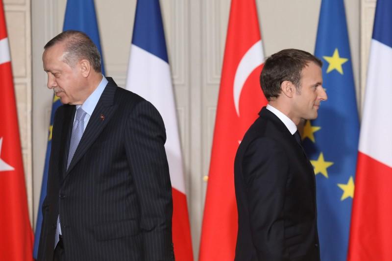 土耳其法國關係緊張,艾多根怒批馬克宏助長恐怖主義。(法新社)