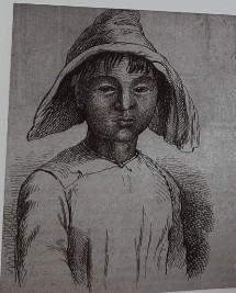 俄文版書籍中對台灣小孩的素描。(楊孟哲提供)