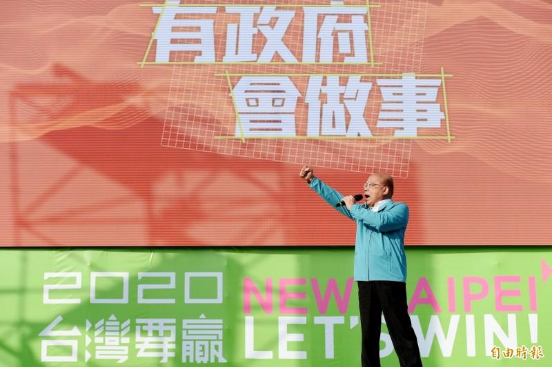 行政院長蘇貞昌出席蔡英文總統連任新北市競選總部成立大會。(記者朱沛雄攝)