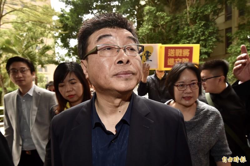 新黨不分區立委第一名的前立委邱毅。(資料照,記者塗建榮攝)