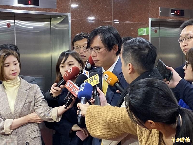 立法委員黃國昌。(記者巫其倫攝)
