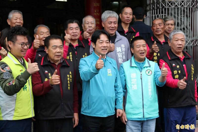 對於韓國瑜喊出民調唯一支持蔡英文,賴清德說,其目的不得而知,但仍呼籲支持者團結、不要動搖。(記者鄭名翔攝)