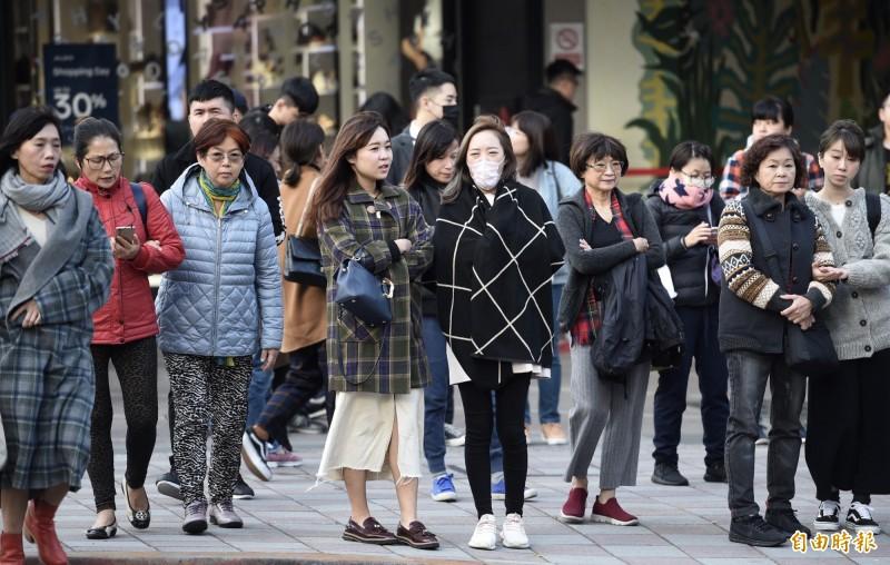 北台灣今日愈晚愈冷,氣溫將一路下降,白天高溫只有16到18度。(資料照)