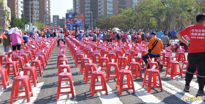 韓國瑜支持度下滑,到場參加韓國瑜造勢的韓粉人數也不如以往。(資料照)