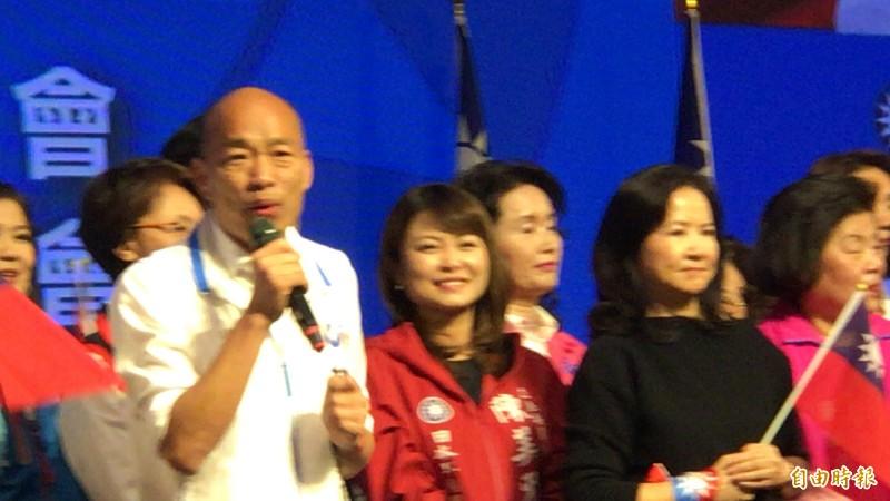 韓國瑜自誇拔擢的3位副市長都當過部長,但副市長李四川並未當過部長。(記者黃良傑攝)