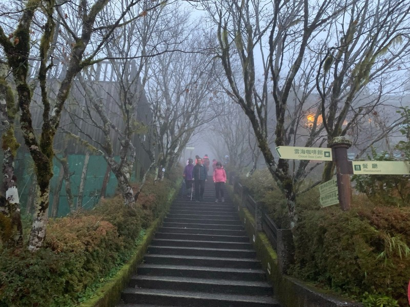 太平山莊今上午7點氣溫僅1度。(記者張議晨翻攝)