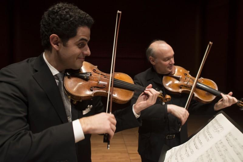 艾佛瑞‧費雪職業獎得主的小提琴家阿諾‧蘇斯曼與紐澤西Mostly Music音樂節藝術總監的中提琴家保羅‧紐鮑爾。(衛武營提供)