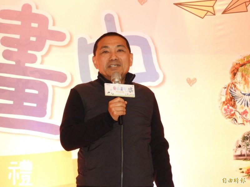 新北市長侯友宜不接任國民黨總統候選人韓國瑜新北市的競選總部主委,他表示,主委永遠是400萬市民擔任。(記者賴筱桐攝)