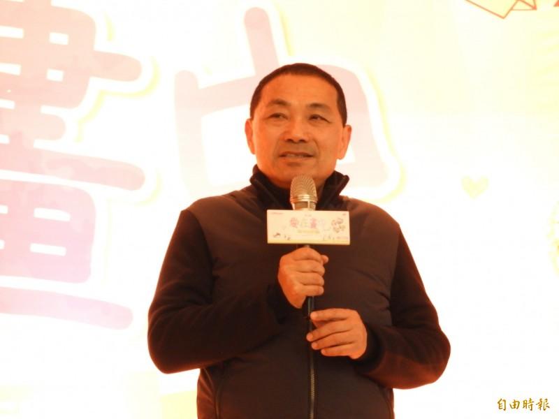新北市長侯友宜今天表示,他與台北市長柯文哲都在談論市政建設,沒有聊到選舉議題。(記者賴筱桐攝)