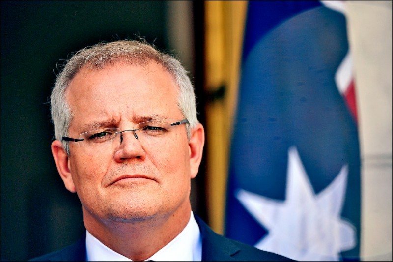 澳洲總理莫里森2日宣布,將投入8800萬澳幣,成立一個高層級的反間諜專門小組,反制持續升高的外國勢力干涉威脅。(歐新社檔案照)