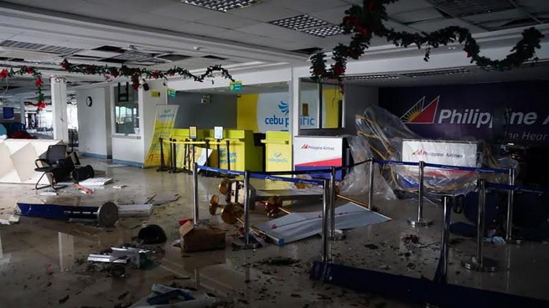 阿爾拜省(Albay)首府黎牙實比市(Legazpi City)的機場災情最嚴重。(法新社)