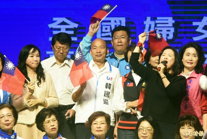 國民黨總統候選人韓國瑜面臨房產爭議、共諜王立強案等爭議。(資料照)