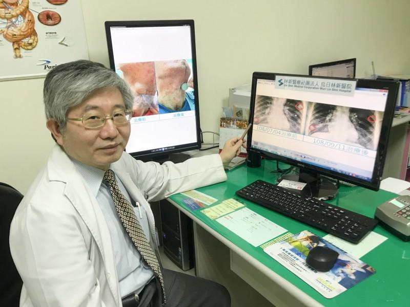 烏日林新醫院血液腫瘤科主任林增熙透過次世代定序基因檢測,為癌患成功找出一線生機!(記者蘇金鳳翻攝)