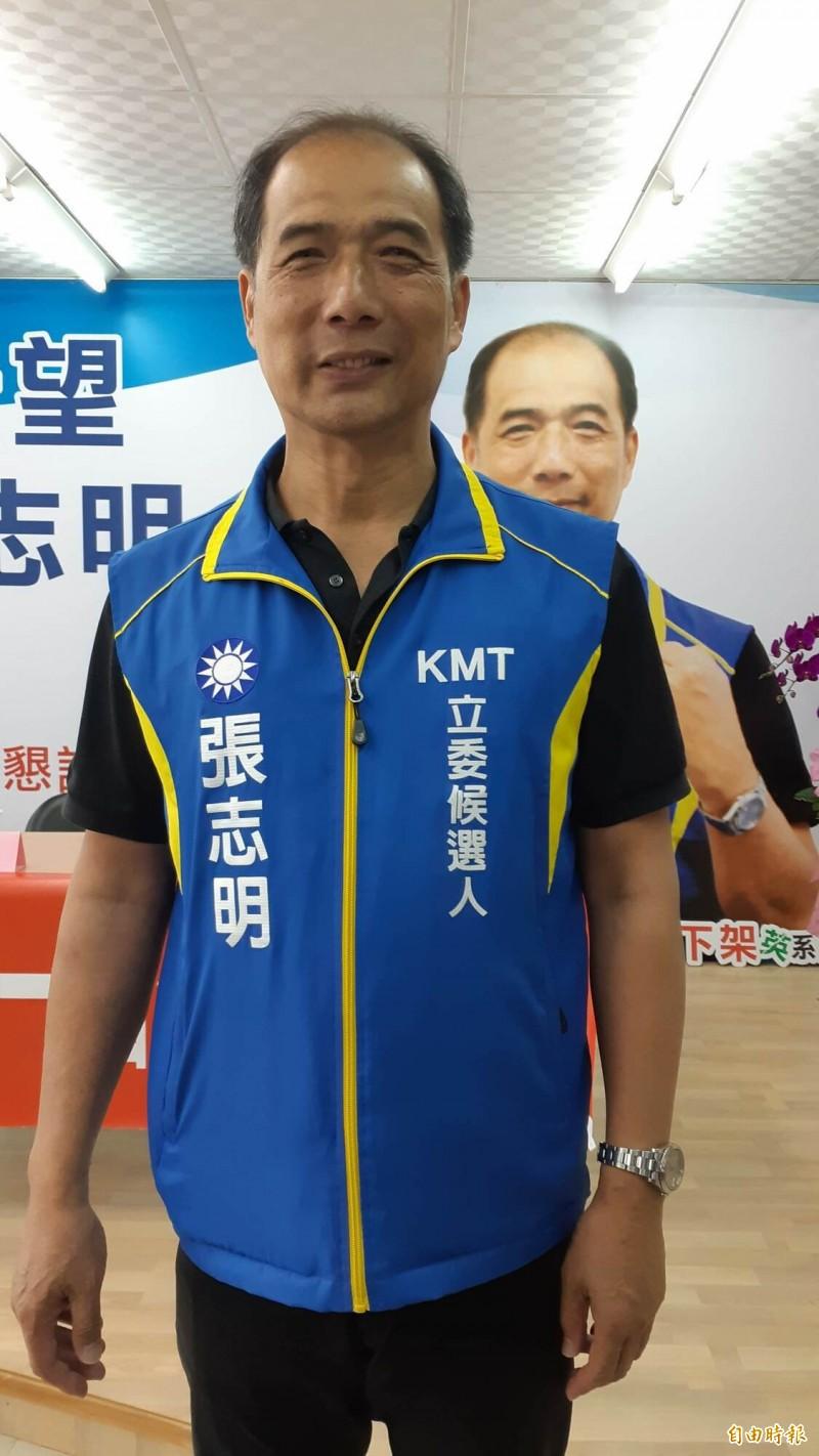 國民黨台東立委候選人張志明主張闢花東快速道路,採路堤共構路線。(記者黃明堂攝)