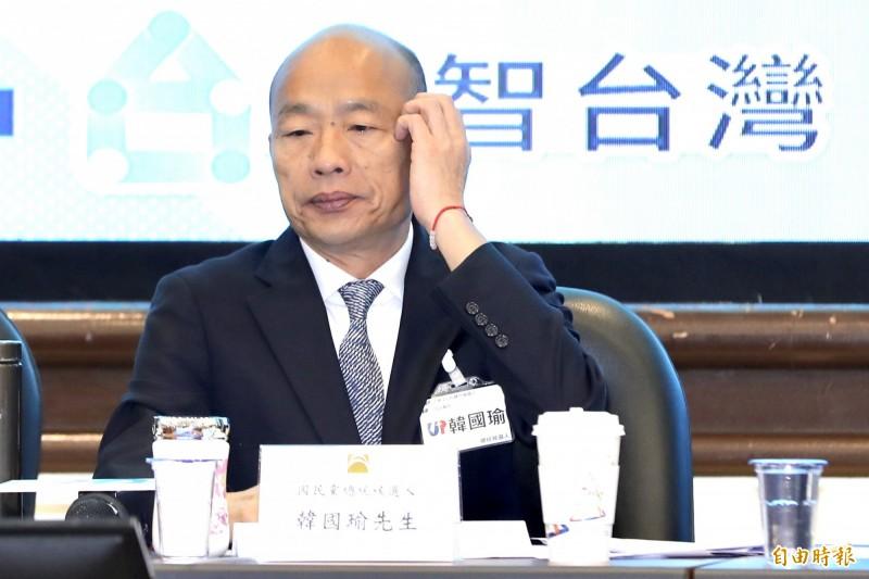 范世平認為,韓國瑜(見圖)不顧民調的做法是掩耳盜鈴,這只會讓他出征慘敗。(資料照)