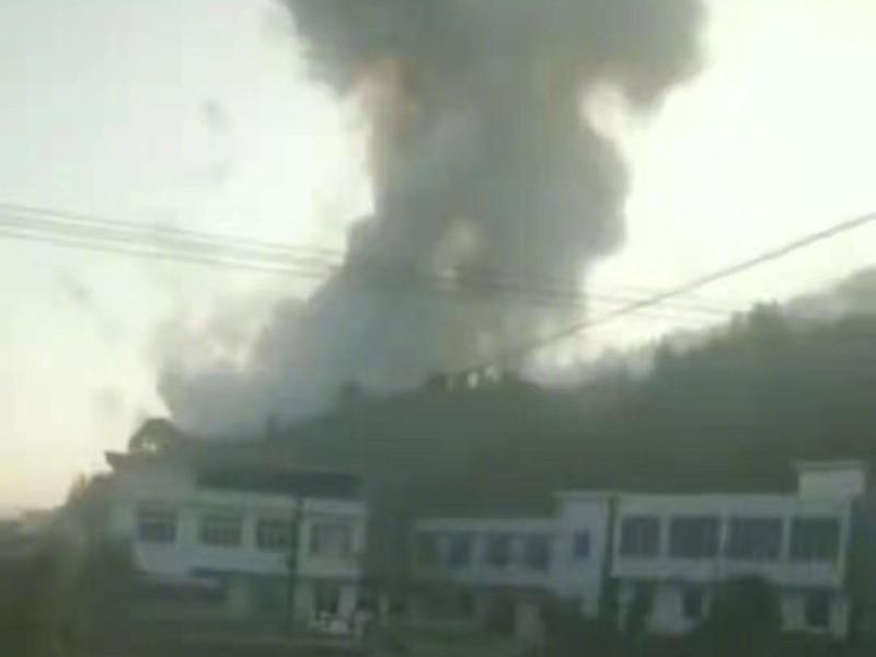 中國湖南省瀏陽市今早發生一起爆炸意外,瀏陽市官方在首次通報後,死傷人數便懸置多時,直到最後才確認7人死亡13人受傷,被中國媒體懷疑有隱瞞通報的嫌疑。(圖擷取自微博)