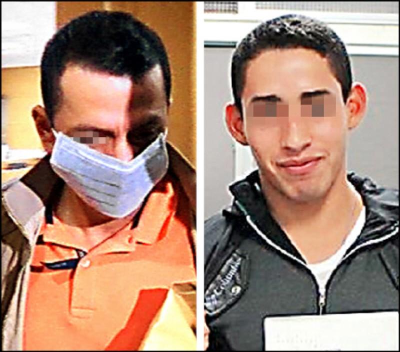 羅姓(左,記者錢利忠翻攝)及孟姓兩名友邦軍校交流生(右,取自國防大學臉書)被台籍女子控告性侵。