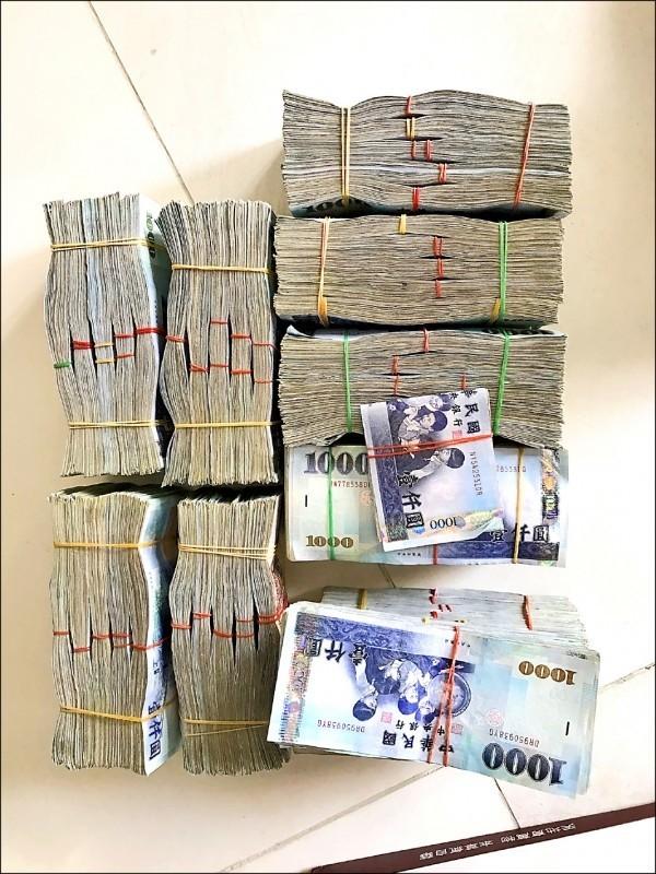 檢警調查扣外幣約50萬元、台幣650萬元現金(資料照)