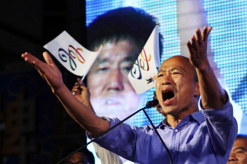 韓國瑜要韓粉反串連外媒也震驚,《路透》報導稱,台灣總統候選人要支持者,對民調說謊。(路透)