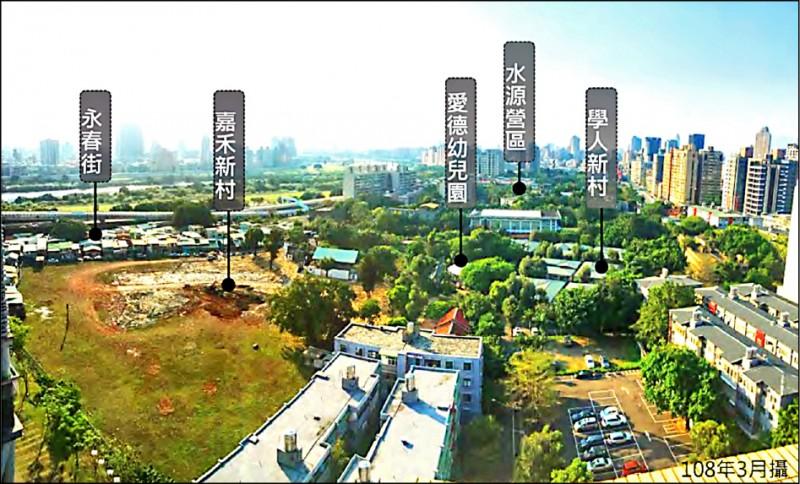 「三總舊址水源地區都市計畫之主要計畫案」現況圖。(圖:都發局提供、擷自都發局簡報)