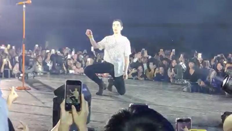 為了取信被害人,林男邀蕭敬騰到春酒晚會駐唱。(記者王捷翻攝)
