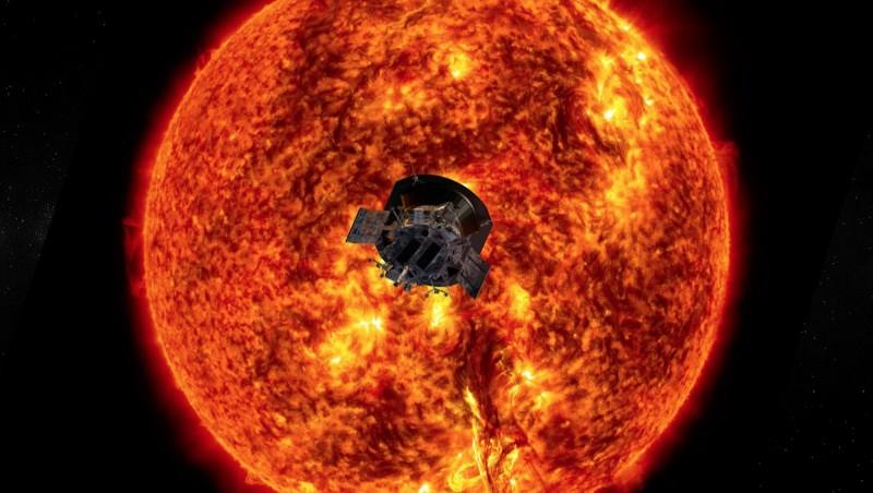 NASA去年8月發射的帕克太陽探測器近日傳回太陽周邊的探測數據,令科學家相當震驚。(歐新社)