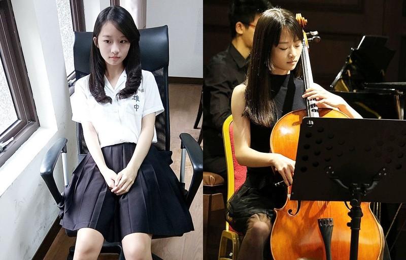 「雄中周子瑜」林涵鈺曾就讀雄中音樂班,目前在北藝大音樂系主修鋼琴和大提琴。(圖擷自Instagram@hanyulin_)
