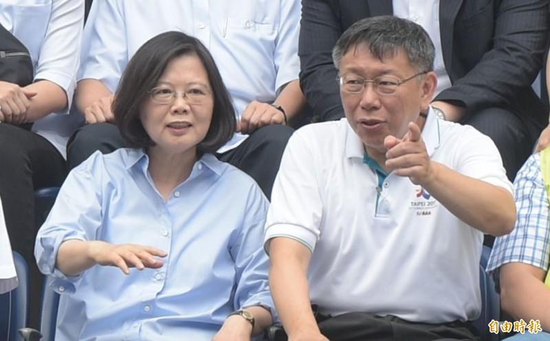 網友指出,小英1994年就預想到中國對香港的承諾會食言,但當年柯文哲還在台大當醫師。(資料照)