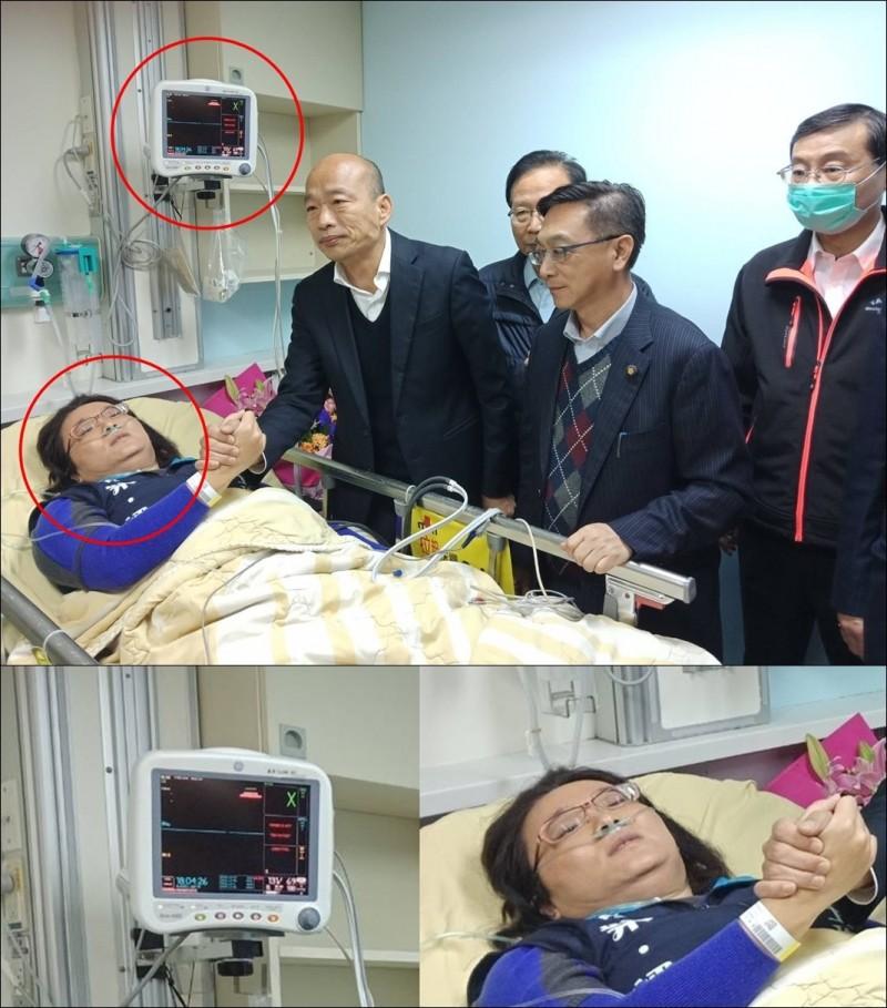 有眼尖的網友發現,陳玉珍病床旁的監視器沒有數據,還發現陳玉珍只是「夾到手」便帶著呼吸器,而且還送到急診室,大罵他們浪費醫療資源。(資料照,合成圖)