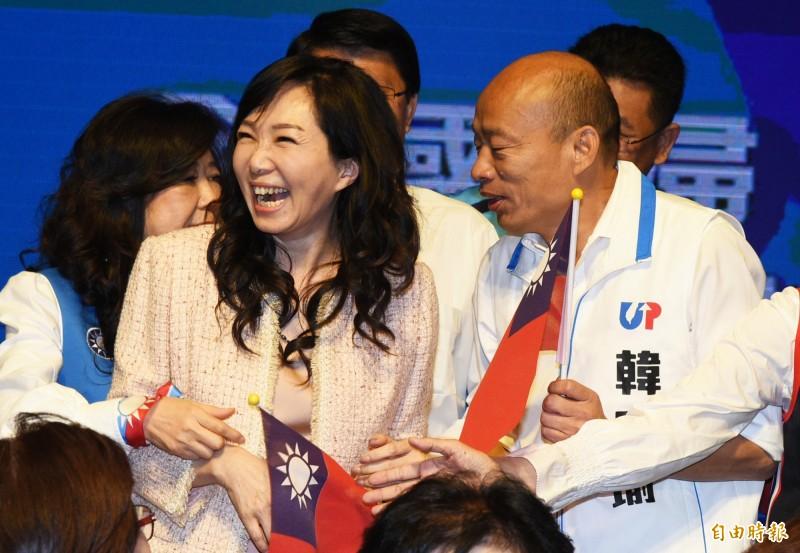 週刊報導,王淺秋在高市新聞局長期間,被韓營認為替韓國瑜辯護不遺餘力,且與韓國瑜妻子李佳芬私交良好。(資料照)