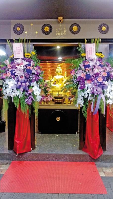 台北市中山區林森北路知名的四面佛梵天分舍。(取自臉書)