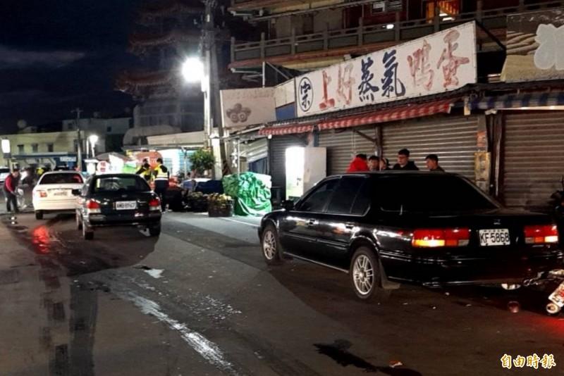 恆警車城緝毒追逐戰,惡劣毒販擦撞3車。(記者蔡宗憲攝)