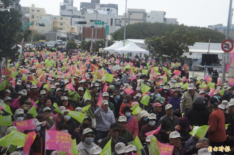 小英楊曜聯合競選總部成立,現場湧入1800人。(記者劉禹慶攝)