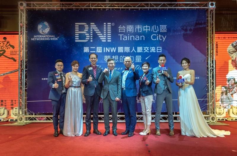 BNI商會台南分會召開2019南市第2屆INW國際人脈交流日,希望打造1個愛與信任的商務天堂,促使台南更興盛繁榮。(圖:主辦單位提供)
