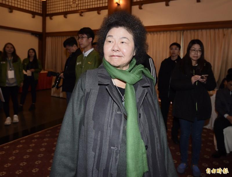 民進黨9日舉辦美麗島40週年紀念活動,發表「美麗島事件40週年記錄片」,總統府秘書長陳菊出席。(記者簡榮豐攝)