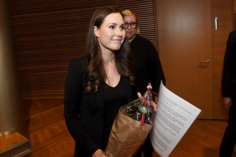 芬蘭新總理由34歲的交通部長馬林接任,成為史上最年輕的總理。(路透)