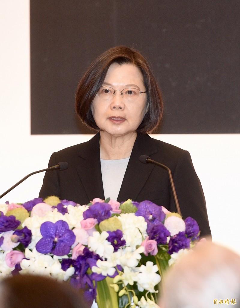 蔡總統今天表示,這段時間有很多作假和抹黑,後來證實是出自韓市長支持者。(記者羅沛德攝)