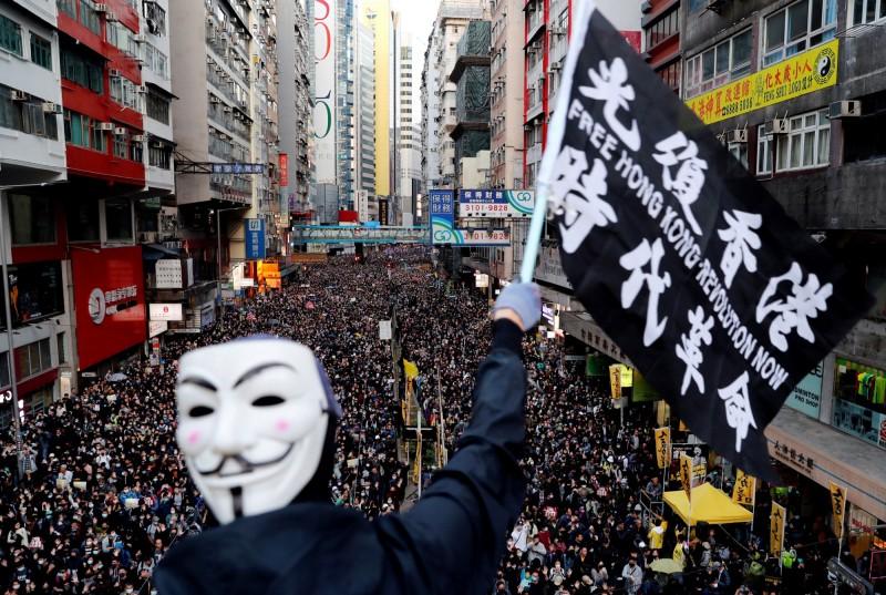 香港抗爭者入選《時代》風雲人物10強。(路透)