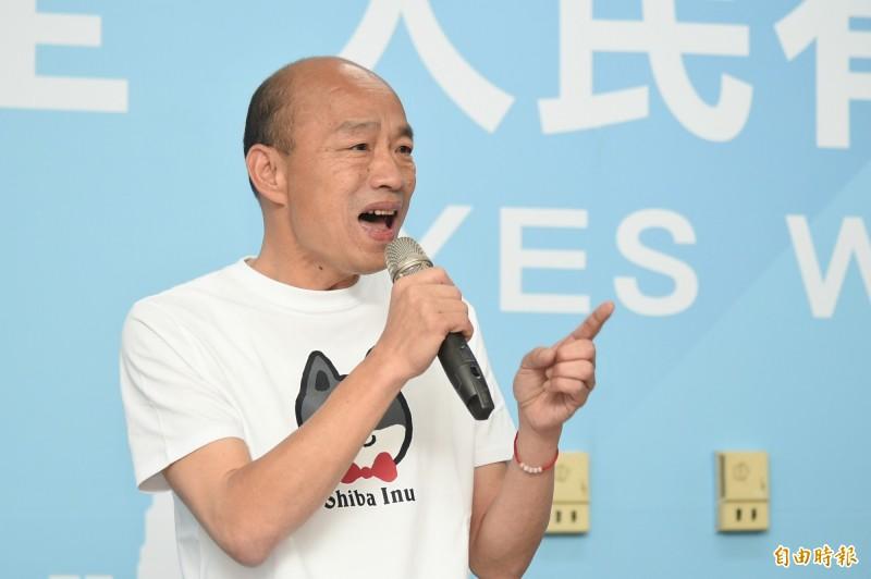 韓國瑜要罷韓大遊行不要從外縣市調人或用遊覽車載人來。(記者張忠義攝)