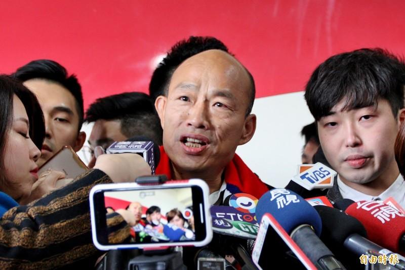 韓國瑜一句「民調唯一支持蔡英文」,讓地下賭盤亂了套。(資料照)