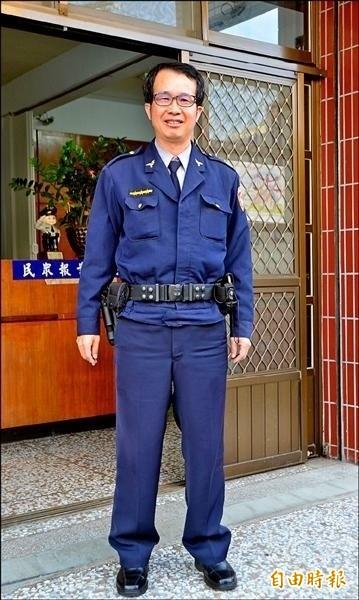從警30年的陳春富,是警界尋車高手。(檔案照,記者陳鳳麗攝)