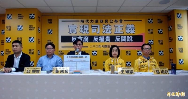 時代力量立委黃國昌今受訪時批評,韓國瑜辦公室不針對具體問題回應,非競選總統的格局。(記者彭琬馨攝)