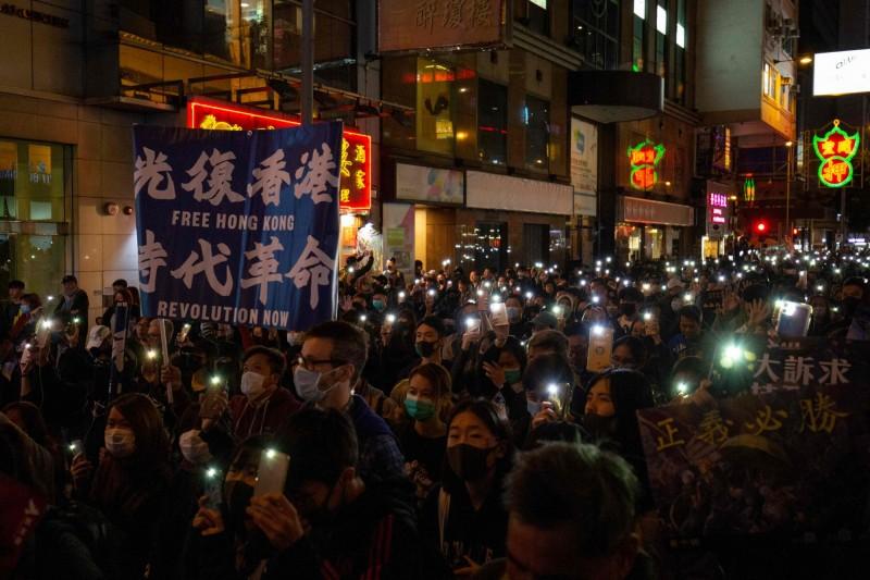美國總統川普長子小川普(Donald Trump Jr.)批評,指《時代》雜誌背棄為生命、自由而戰的香港示威者,選擇只是行銷噱頭的「瑞典少女」。(法新社資料照)