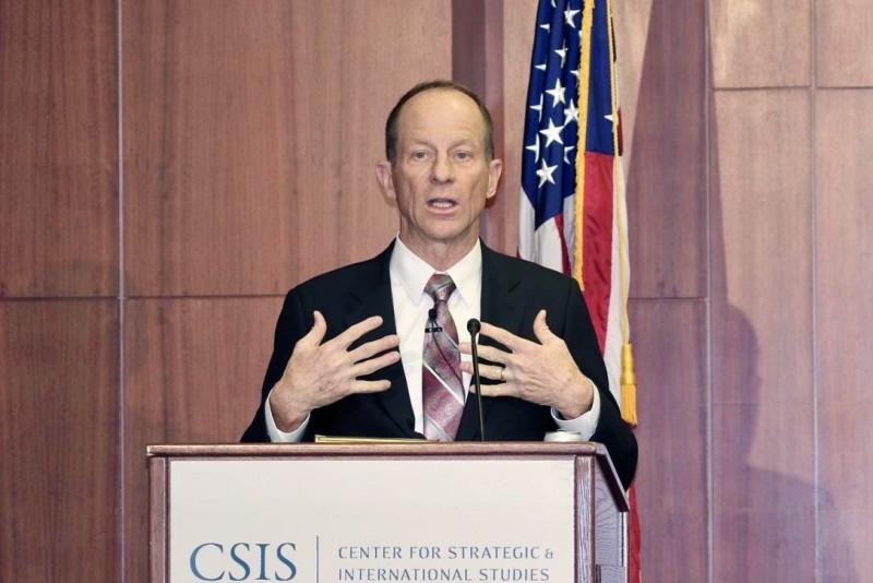 負責東亞和太平洋事務的美國助理國務卿史達偉(David Stilwell)昨(12日)於美國戰略暨國際研究中心(CSIS)發表關於「美中關係」的演講。(歐新社/韓聯社)