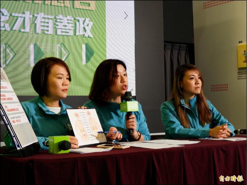 蔡總統連任競選辦公室昨表示,治理國家靠的是腦袋,不是靠生殖器有沒有用過,張善政應向全國女性道歉。(記者陳鈺馥攝)
