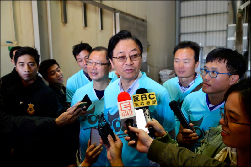 國民黨副總統候選人張善政接受媒體訪問。(資料照)