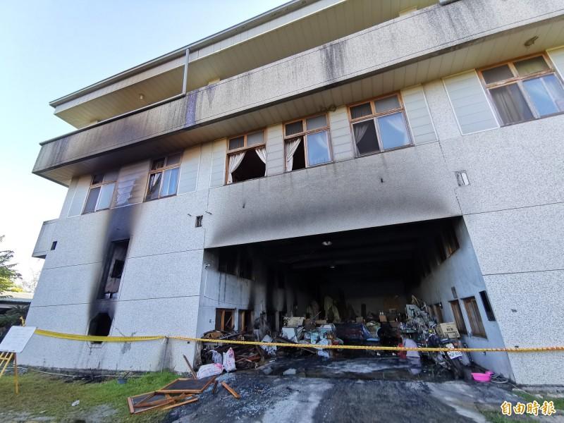 真理家族前輩堂遭縱火造成7死。(記者吳俊鋒攝)
